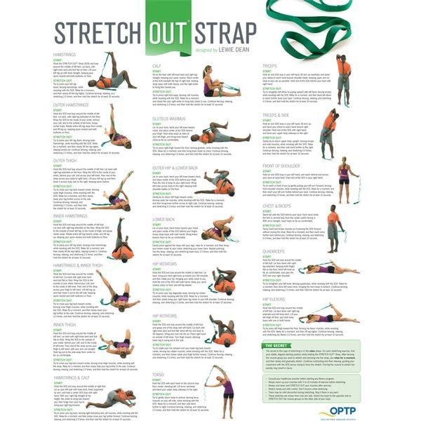 Stretch Out Strap with Stretching Exercise Poster | Shop OPTP.