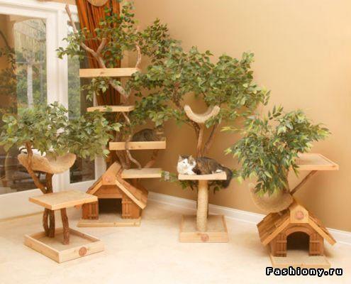 Креативные домики и лежанки для домашних питомцев / лежанка для кошек