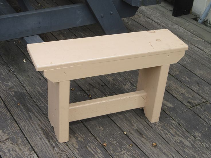 diy wooden bench easy to make can also be used as a stand for