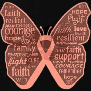 FAITH to FIGHT - PEACH is the color for Uterus Cancer Support