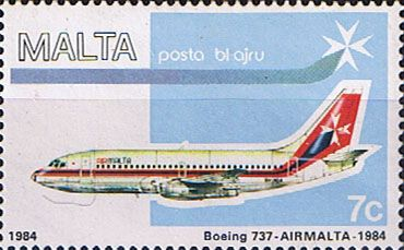 Malta Stamps 1984 Air Malta Planes SG 729 Fine Mint Scott C15 Other European and British Commonwealth Stamps HERE!
