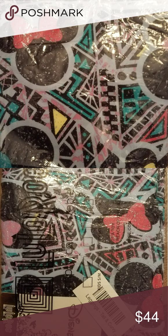 LuLaRoe Disney Collection TC Leggings Beautiful Aztec pattern still in bag.  If you'd like me to take out just ask.  Disney is more expensive than other LuLaRoe. Firm price or you can find me at another platform LuLaRoe Pants Leggings