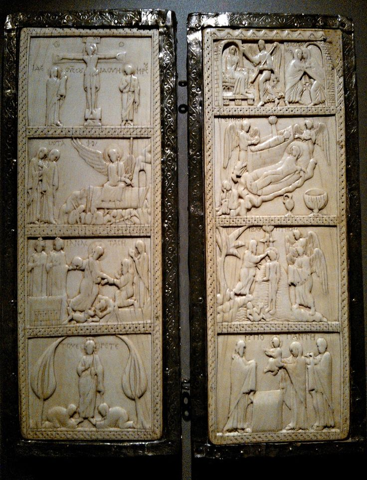 Ivory Diptych 9th C - Milano Museo del Duomo   #TuscanyAgriturismoGiratola