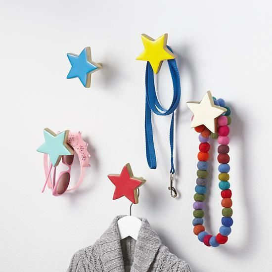"Rather than hang these star wall hooks ""up above the world so high,"" we recommend just hanging them on your wall. They make a nice decorative accent, and they can hold things like jackets, clothes or even a backpack."