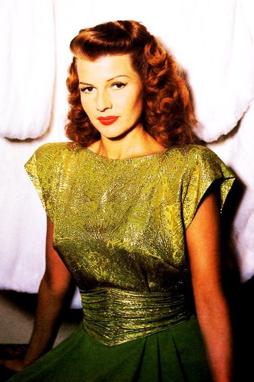 Rita Hayworth with BIG shoulder pads