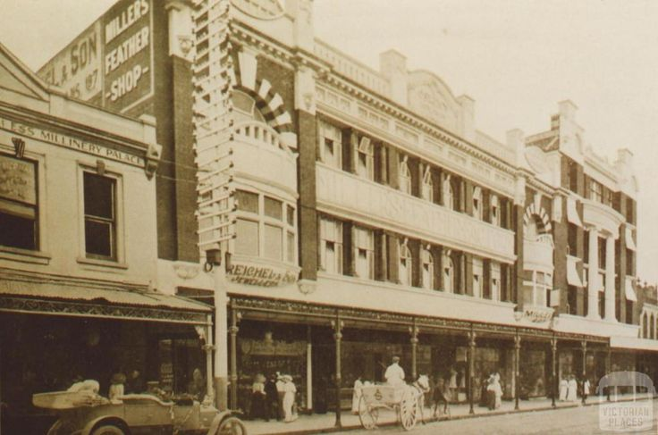 Millers feather factory, Chapel Street, Prahran, 1910