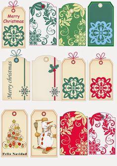 Unas etiquetas muy navideñas. Para poner los regalos, aún más bonitos. | Aprender manualidades es facilisimo.com