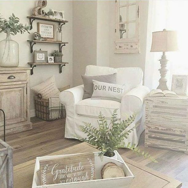 50 Shabby Chic Farmhouse Living Room Decor Ideas