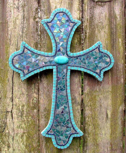 Als ik een mozaïek kruis maak, dan deze! Caro