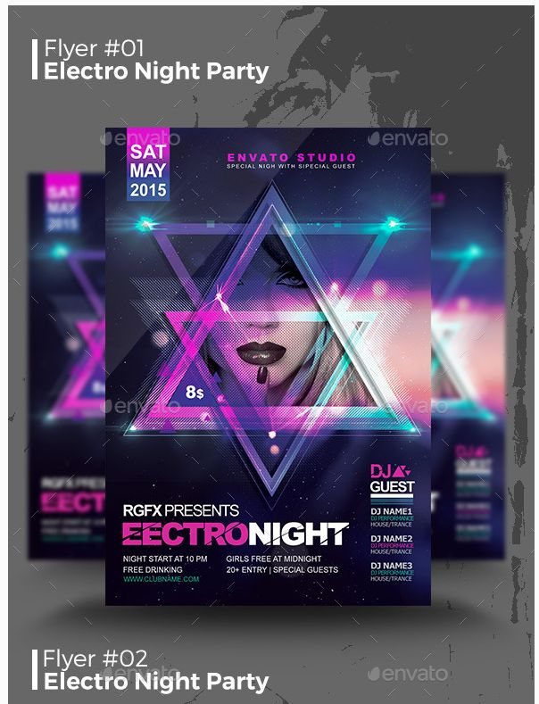 20 best Best Event Flyer Templates images on Pinterest Event - electro flyer