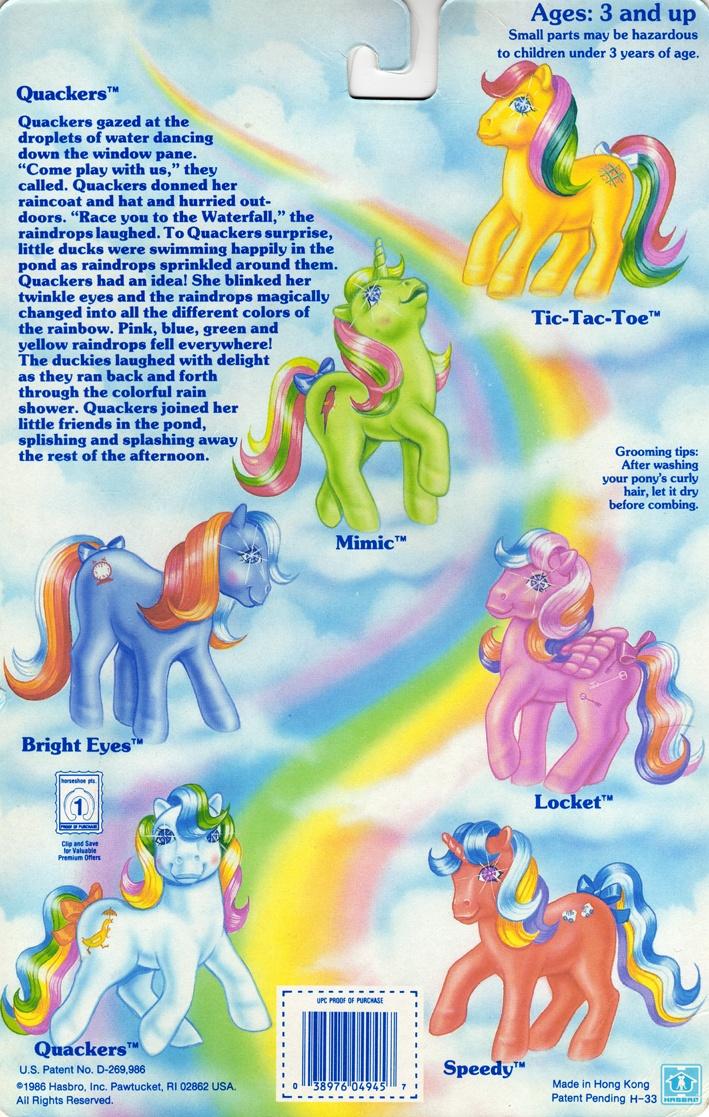My Little Pony Twinkle-Eye Pony Year 2 Backcard