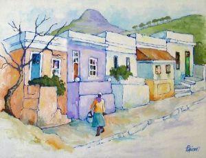 Rosemary Girardi - Bo-Kaap Street Scene   Traditional Art Art Painting