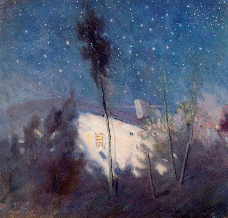 Noche con Estrellas, Night with Stars   - Gregorio Prieto Muñoz (1897-1992)