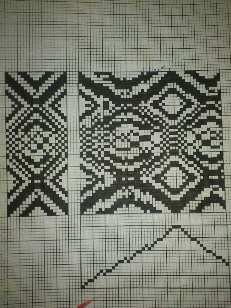 Dobby design handmade scketching with 20 threads