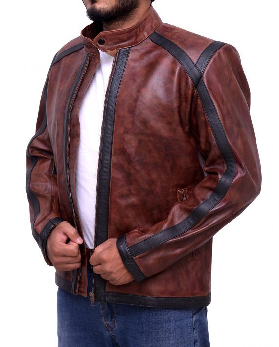 Dan Espinoza TV Series Lucifer Brown Leather Jacket