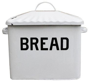Contemporary Enameled Metal Bread Box - contemporary - Bread Boxes - Inova Team Montreal