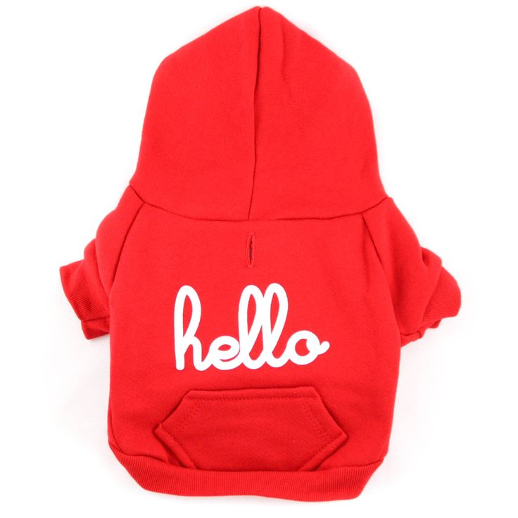 RED HOODIE BY HELLO APPAREL – for dogs! Lucy & Co.