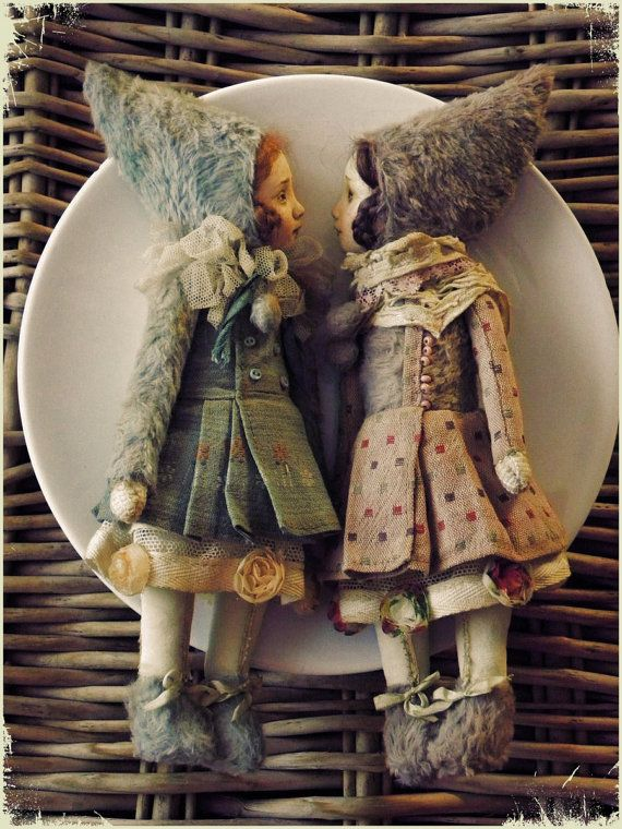 Art Dolls~Image © Elena Korotkova. https://www.etsy.com/listing/265539375/ooak-art-doll-teddy-doll-little-girl-in?ref=shop_home_active_16