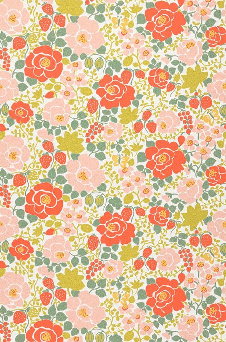 Morgana | Papier peint floral | Motifs du papier peint | Papier peint des années 70