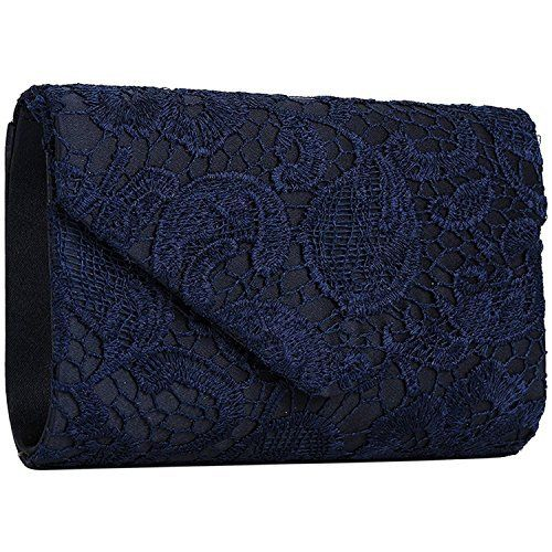 New Trending Clutch Bags: Chichitop Womens Elegant Floral Lace Envelope Clutch Evening Prom Handbag Purse, Navy Blue. Chichitop Women's Elegant Floral Lace Envelope Clutch Evening Prom Handbag Purse, Navy Blue   Special Offer: $13.98      411 Reviews Features:Size: 9.85″(L) * 1.97″(W) * 5.12″(H)Material: soft satin laceClosure type: magnetic closureOccasions:...