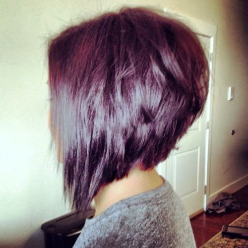 angled bob hairstyles for women with burgundy color | The Angled Bob Hairstyle - Walking in Grace and Beauty