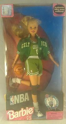 NBA Boston Celtics Barbie 1998 Brand New!
