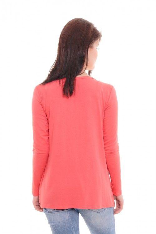 Кардиган А5774 Размеры: 44-54 Цвет: коралловый Цена: 300 руб.  http://optom24.ru/kardigan-a5774/  #одежда #женщинам #кардиганы #оптом24