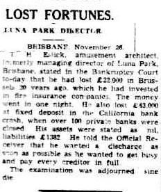 Cairns Post 27 November 1942, page 4. Thirteen months after its original planned opening, T. H. Eslick opened the Cloudland Ballroom in a characteristic razzle dazzle affair: the twinkling lights of the arch were lit up to be seen from all around Brisbane as they would be for the next 42 years and 100 invited couples took to the floor to the tune of Billy Romaine's orchestra. But fortunes didn't last.