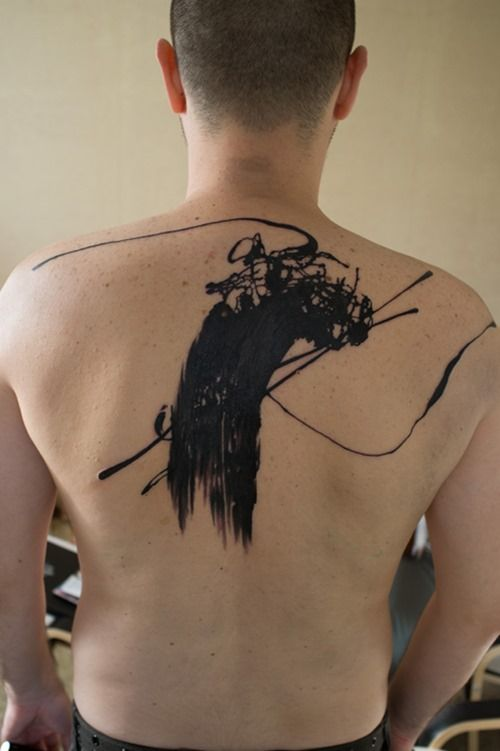 Cool Back Tattoo for Men by Grimmy3d