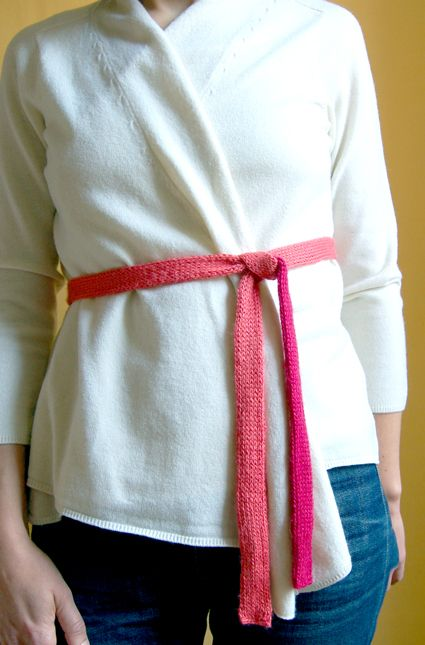 Double Knit Belt - The Purl Bee