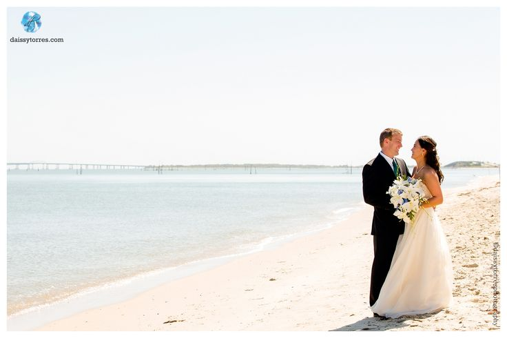 Sunset Beach Hotel Wedding in Cape Charles Virginia | Daissy Torres Photography | Beach Portraits | Cape Charles Wedding |