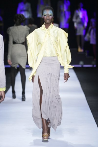 #DTCouture. I love the softness of this outfit. The soft fabrics are so feminine and beautiful.