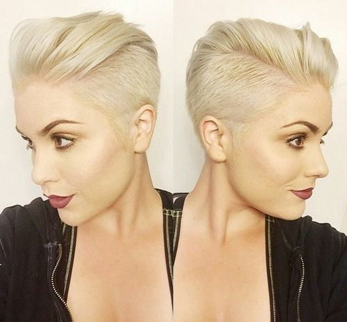 women's undercut hairstyle