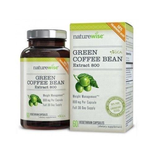 Green Coffee Bean Extract Gca Weight Loss 800mg 800 Chlorogenic Acid 1 Pure Supe