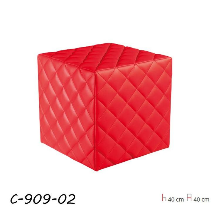 C-909 Puff Piros  Puff steppelt műbőr ülőfelülettel.