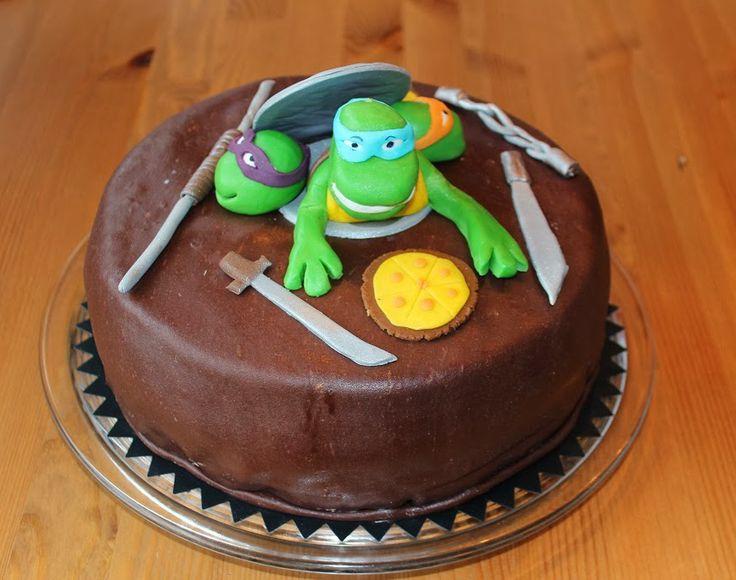 Silmukoita ja suklaakakkua: Turtleskakku