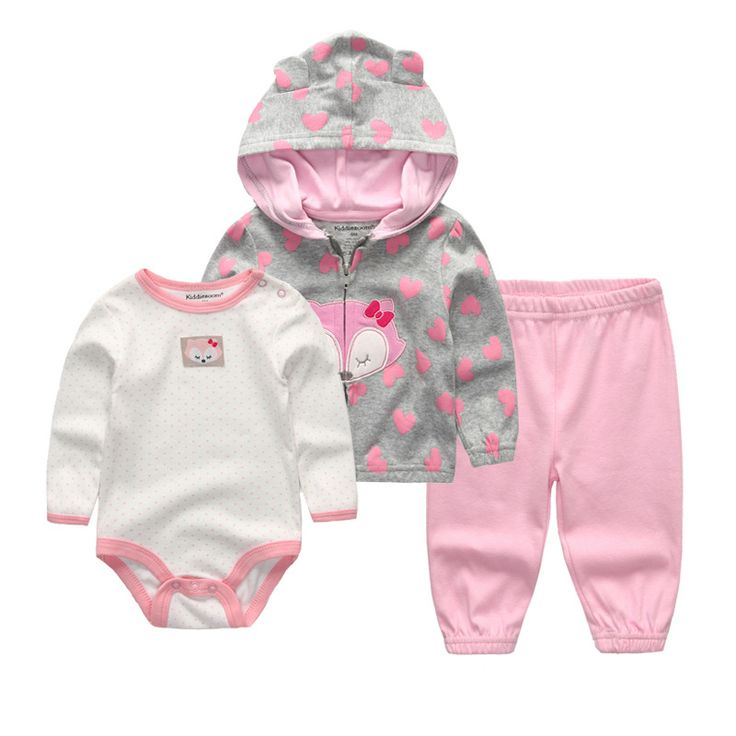 Toddler children clothing 2017 Autumn Winter Girls Clothing Sets cotton coat pants romper Outfits kids clothes,baby clothes