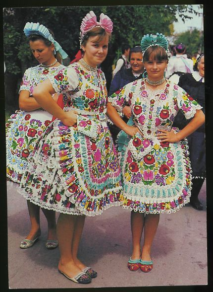 Popular traditional costume, Kalocsa, Hungary
