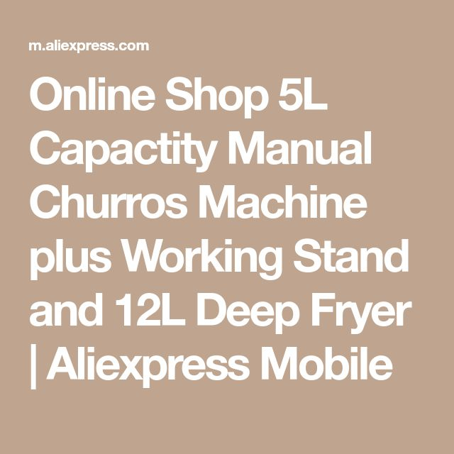 Online Shop 5L Capactity Manual Churros Machine plus Working Stand and 12L Deep Fryer   Aliexpress Mobile