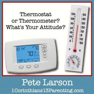"""""""Am I a thermometer or a thermostat?"""" Do I a reflect the temperature around me? Or do I set it?"""