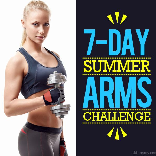 Get tank top ready with this 7-Day Summer Arms Challenge!  #summer #arms #challenge
