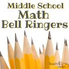 FREE set of middle school math bell ringers / practice exercises
