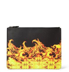 Givenchy - Large Flame-Print Leather Pouch|MR PORTER