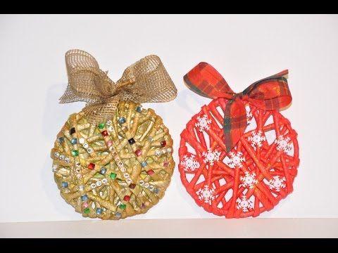 Bombka pleciona z bibuły. Christmas balls made of crepe paper DIY - YouTube