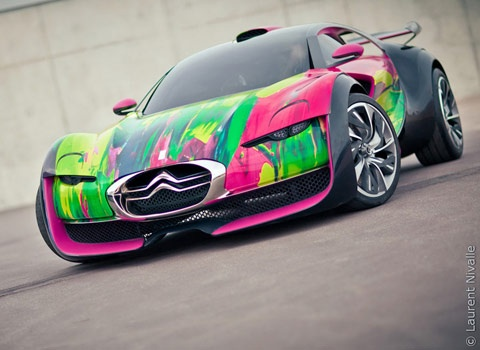 Citroen Survolt Art Car By Francoise Nielly