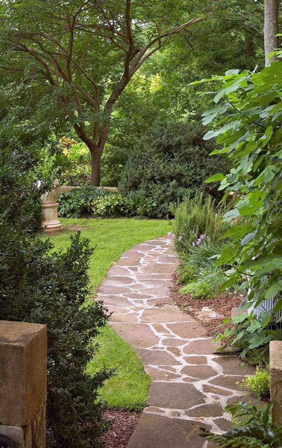 French Garden in a Southern Setting Traditional Home