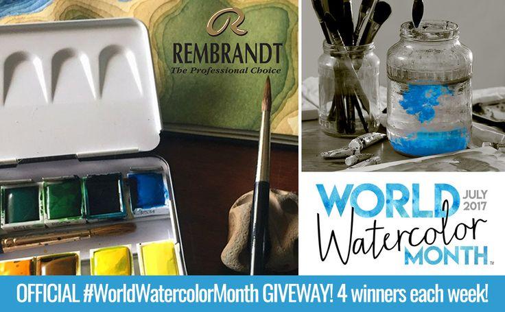 Rembrandt & Van Gogh World Watercolor Month Weekly Giveaway 4