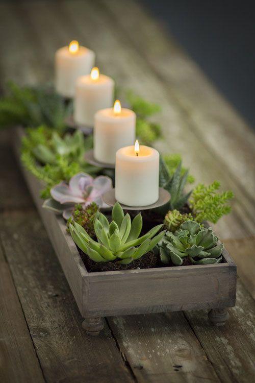 4 Candle Centerpiece Planter Part 52
