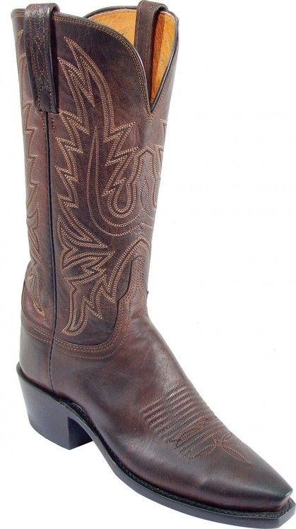 N4554.54 Savannah Lucchese 1883 Chocolate Burnished Mad Dog Goat Womens  Boots