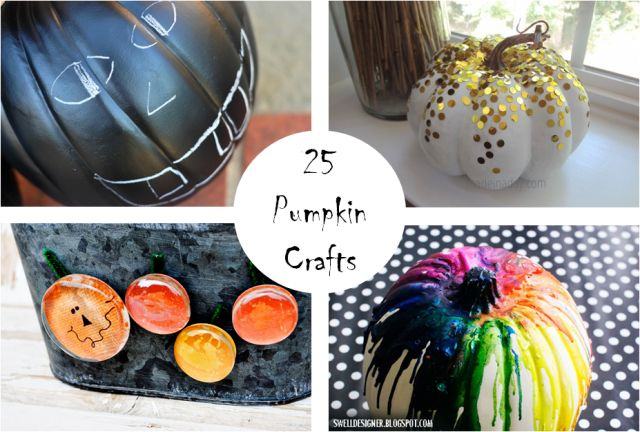 25 Awesome Pumpkin crafts for Halloween and Fall
